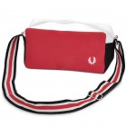 Canvas One Main Pocket Shoulder Backpack bag - Red + Black + White