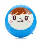 VR KT-Q01 Cute Smile Face Hands Warmer - Brown + White + Blue (USB power / 2 x AA)