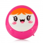 VR KT-Q01 Cute Smile Face Hands Warmer - Pink + White + Orange (USB power / 2 x AA)