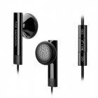 HTC In-Ear Earphones Earbuds w/ Volume Control + Mic + Clip for HTC 8X / 8S - Black (3.5mm Plug)