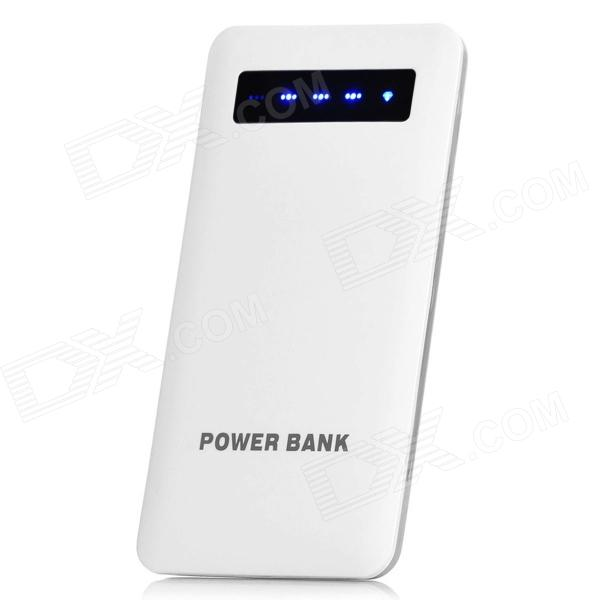 MKPBST-001 4000mAh Ultra-Thin Portable Mobile Power Bank-Ladegerät für iPhone 4 / 4S + More - Weiß