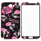 Hello Kitty Style Protective Front + Back Glossy Screen Protector for Samsung Galaxy Note II N7100