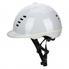 MOON MS-1 PVC + EPS Equestrian Helmet w/ Regulator + Adjustable Strap - White