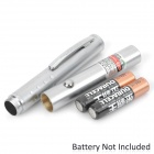 031 1mW 532nm Green Laser Pointer - Silver (2 x AAA)