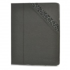 BASEUS GRAPIP-BR0G Protective Flip-Open PU Leather Case w/ Stand for Ipad 2 / New Ipad - Grey