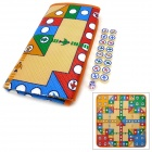 Flight Chess Game PE Cotton Mat w/ Transparent Dice - Multicolor (75 x 79cm)