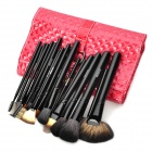 MEGAGA 192-1 # Professionelles 20-in-1 Cosmetic Make-up Pinsel Set - rot + schwarz