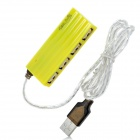 G-H209 Rectangle 480Mbps 4-Port USB 2.0 Hub - Yellow (80cm-Cable)