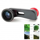 QS-3in16000 3-in1 Quick-Change Camera Lens for iPhone 5 - Black + Red