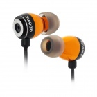 Apolok ME-C030-3 Stilvolle In-Ear-Stereo-Bass Earphones - Golden + Schwarz (3,5 mm Klinkenstecker / 120cm)