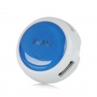 Bizkey F2 круглые USB 2.0 4-Port Hub - Blue + White