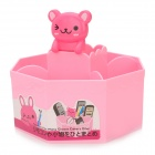 Octagonal Cute Cartoon Bear Mini PVC Collecting Box - Pink