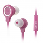 BYZ S400 Flat In-Ear Earphones w/ Microphone for iPhone 5 / iPod / iPad / Samsung / HTC - Purple
