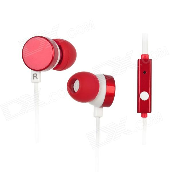 Kanen ip-608 In-Ear Earphone w/ Microphone for Iphone 4 / 4S / Ipad / HTC / Blackberry - Red + White free shipping ds 2cd2442fwd iw english version 4mp ir cube network cctv security camera mini wifi ip camera poe 10m ir