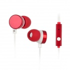 Kanen ip-608 In-Ear Earphone w/ Microphone for Iphone 4 / 4S / Ipad / HTC / Blackberry - Red + White