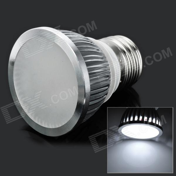E26 3W 265V 270lm 6-SMD 5730 LED White Light Lamp - Silver