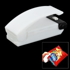 736 Mini Portable Handy Plastic Bag Sealer - White (2 x AA)