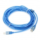 USB 2.0 AM-BM Printer Cable - Blue (5M-Length)