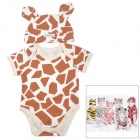 DOOMAGIC Giraffe Style Costume w/ Hat for Children - White + Brown