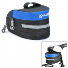 KUGAI 13014 Cycling Bicycle Saddle Seat Expandable Tail Bag - Black + Blue