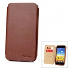 SAMDI Protective PU Leather Case for Samsung i9220 - Coffee
