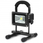 Hand-held Rechargeable 10W 800LM Cold White 1-LED Project Lamp - Black