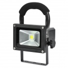 Mano recargable 10W 800LM frío blanco 1-LED Project Lamp - Negro