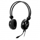 FE926 Wired Stereo Headset Headphones - Black + Silver (3.5mm Plug / 2.2m)