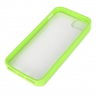 Protective TPU + PC Back Case for Iphone 5 - Green + Transparent