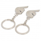 Lovers Kiss Zinc Alloy Keychain - Silver (Pair)