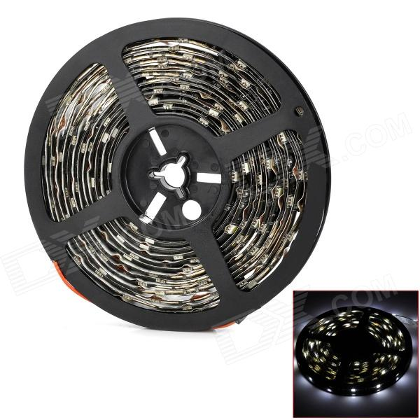 Waterproof 45W 1500lm 150-SMD 5050 LED White Light Car Decoration Strip (12V / 500cm) waterproof 90w 3000lm 300 smd 5050 led blue light car decoration strip 12v 500cm
