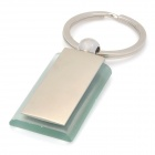 Zinc Alloy Nameplate Keychain - Silver
