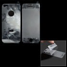 3D Heart Pattern Protective Front + Back Guard Film Protector for iPhone 5