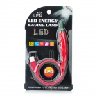Creative Pepper Style USB Flexible White 7-LED Light Lamp - Red + Green