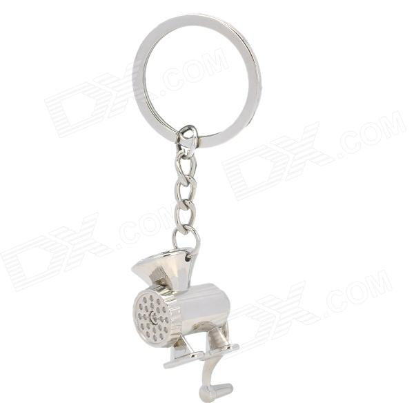 Meat Grinder Zinc Alloy Keychain - Silver multifunctional household small electric meat grinder