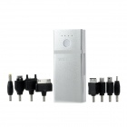 Q8 External Portable 5200mAh Power Bank w/ 6 Adapters for iPhone / Samsung / Nokia- Silver