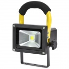 Hand-held Rechargeable 10W Cold White 1-LED Project Lamp - Yellow