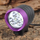 TrustFire TR-008 3 x Cree XM-L T6 2000lm 4-Mode White Bicycle Lamp - Black + Purple (4 x 18650)