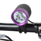 TrustFire TR-008 2000lm 4-Mode White Bicycle Lamp - Black + Purple (4 x 18650)
