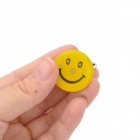 Smiley Face RGB Flashing 3-LED Brooch Badge - Yellow (5 PCS)