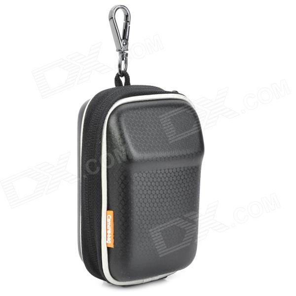 Protective PU Leather Case Bag for Digital Camera - Black