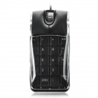 2-in-1 Optical 1000dpi Wired Mouse and Numeric Keypad - Black + Translucent White