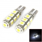 T10 3.9W 156lm 13-SMD 5050 LED White Light Car Clearance Light / Width Light (2 PCS0