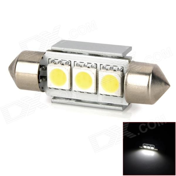 Festoon 36mm 1W 60lm 3-SMD 5050 LED White Light Car Turning Light (12V)