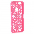 Stylish Newtons Hollow Rose Pattern Protective PC Back Cover Case for Iphone 5 - Deep Pink