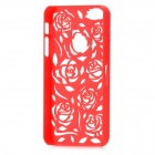 Stylish Newtons Hollow Rose Pattern Protective Plastic Back Cover Case for iPhone 5 - Red