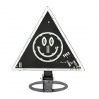YS-2026 Triangle Smiling Face 4W 120lm 24-LED RGB Car Safety Warning Light - Black (12V)