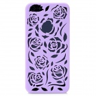Stylish Newtons Hollow Rose Pattern Protective Plastic Back Cover Case for Iphone 5 - Purple