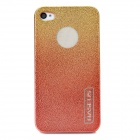 BASEUS Protective Engraving Flower Side Shining Back Case for Iphone 4 / 4S - Golden Red