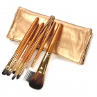MEGAGA 278-2# Professional 7-in-1 Cosmetic Makeup Brushes Set - Deep Gold